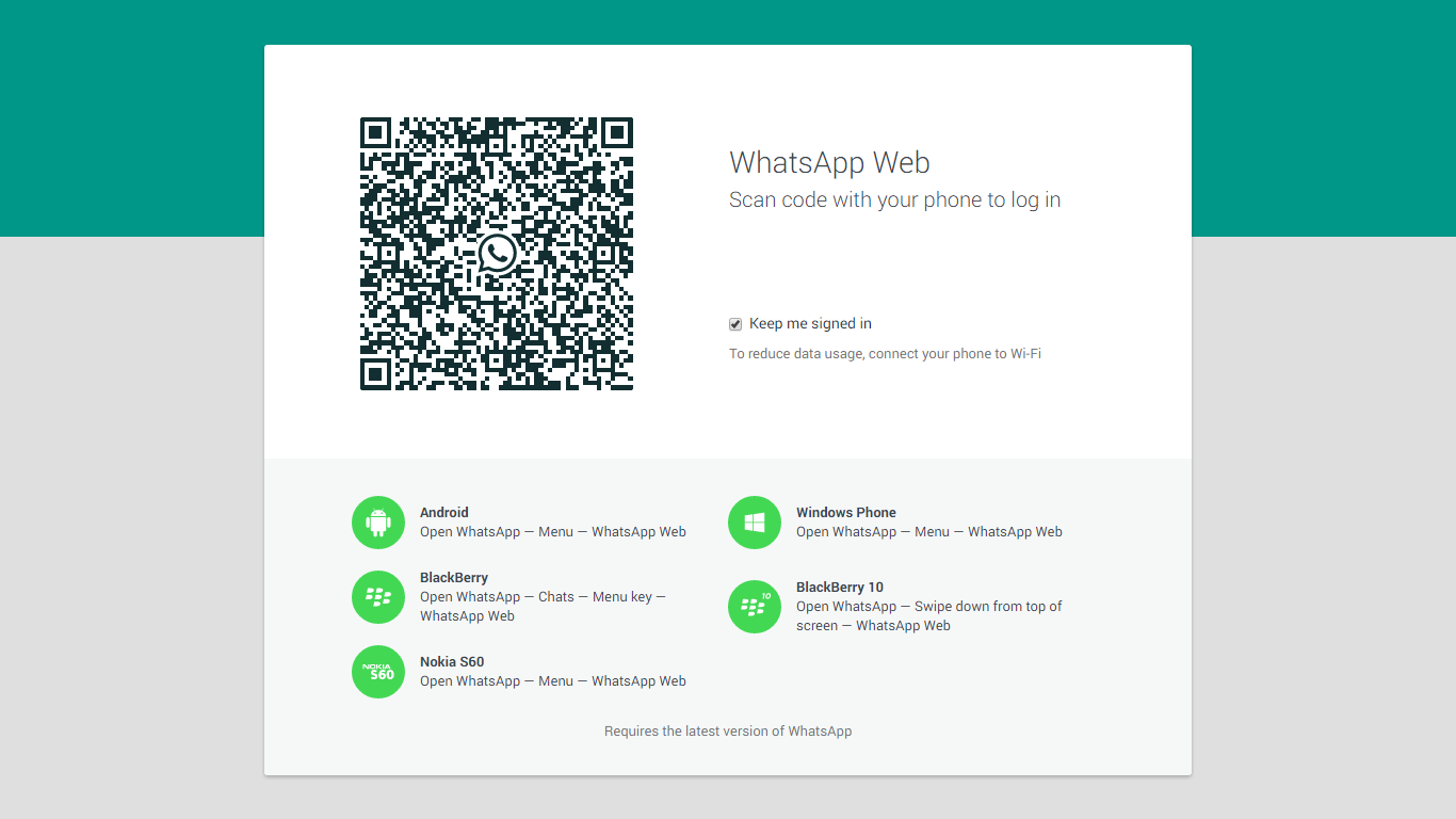 Screen Whatsapp web