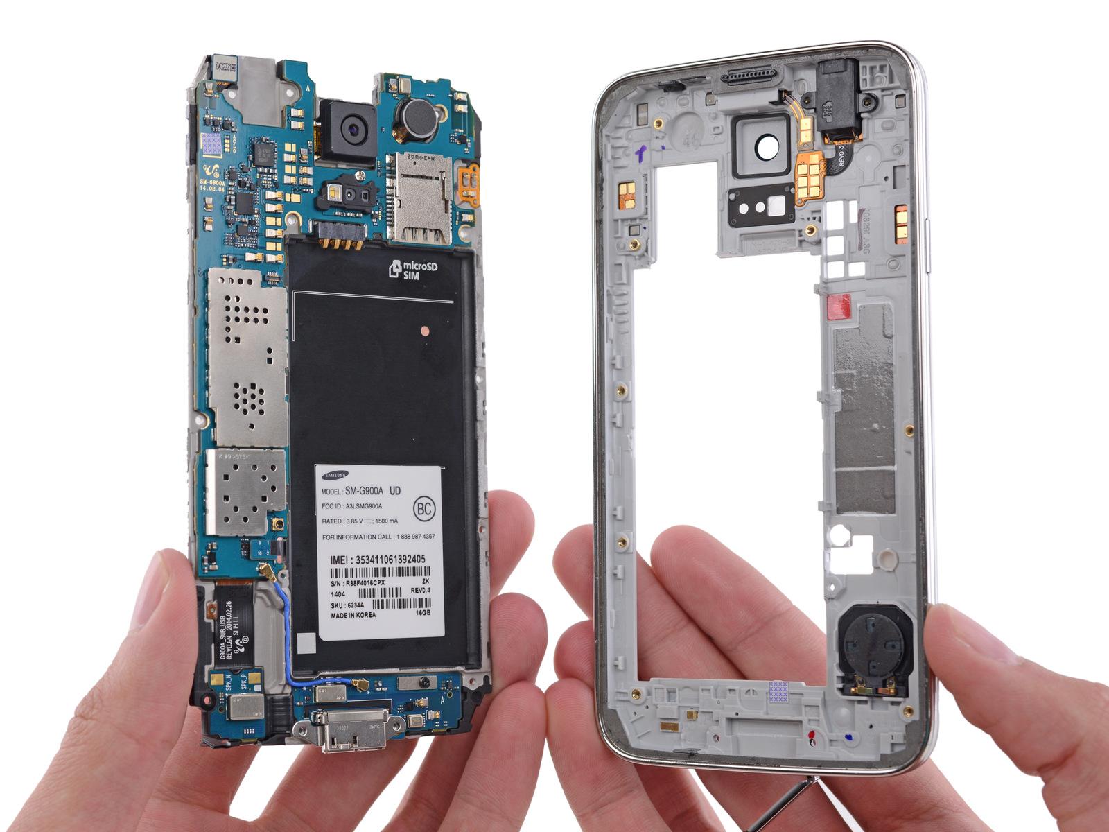 Desarmando un Galaxy S5