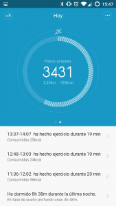 Xiaomi MiBand Screenshot