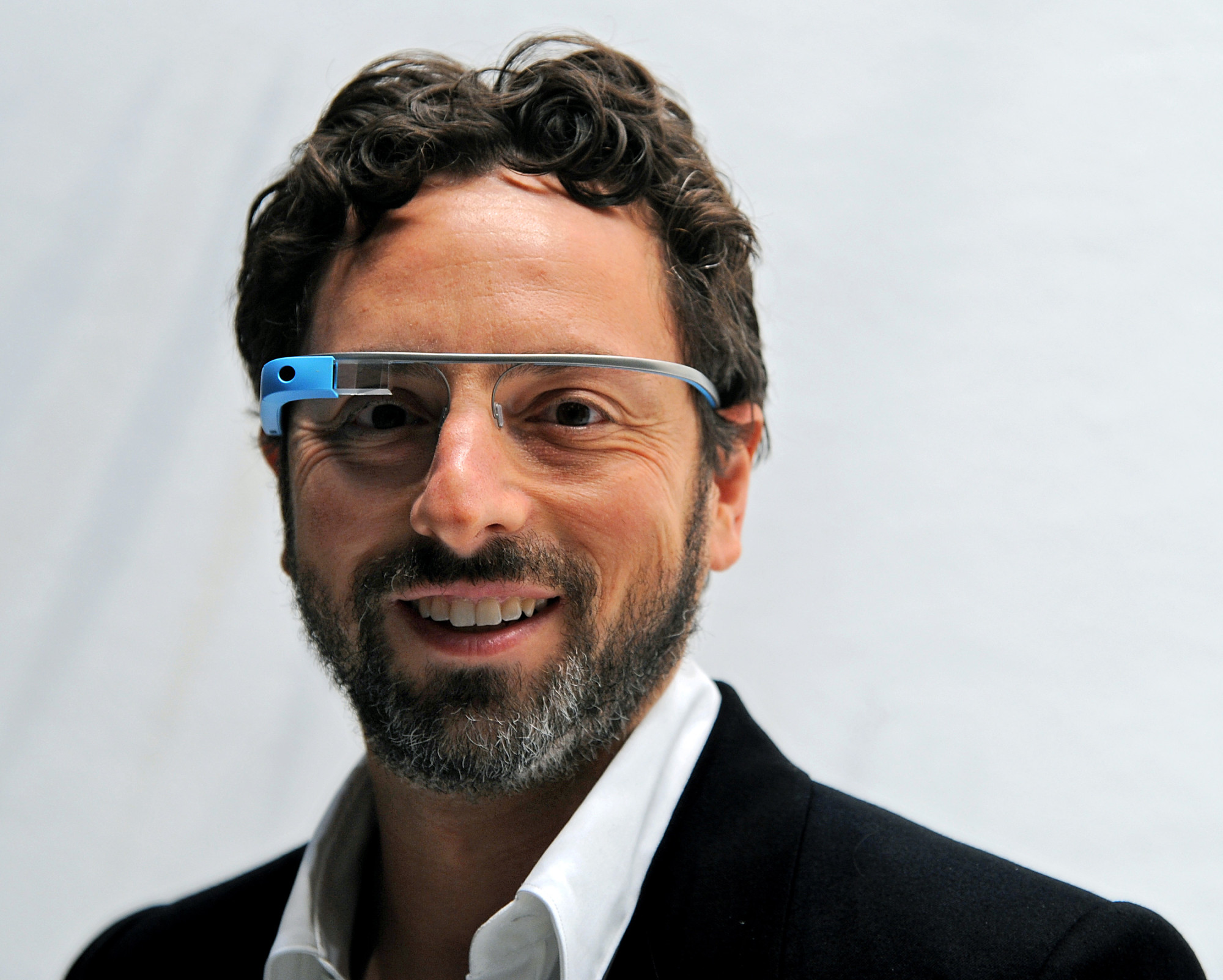 Google's Brin Wears Google Glasses During Fashion Week