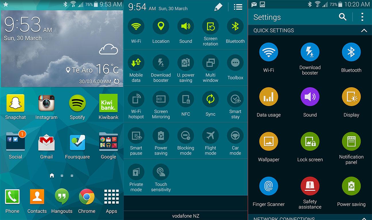 TouchWiz de Samsung