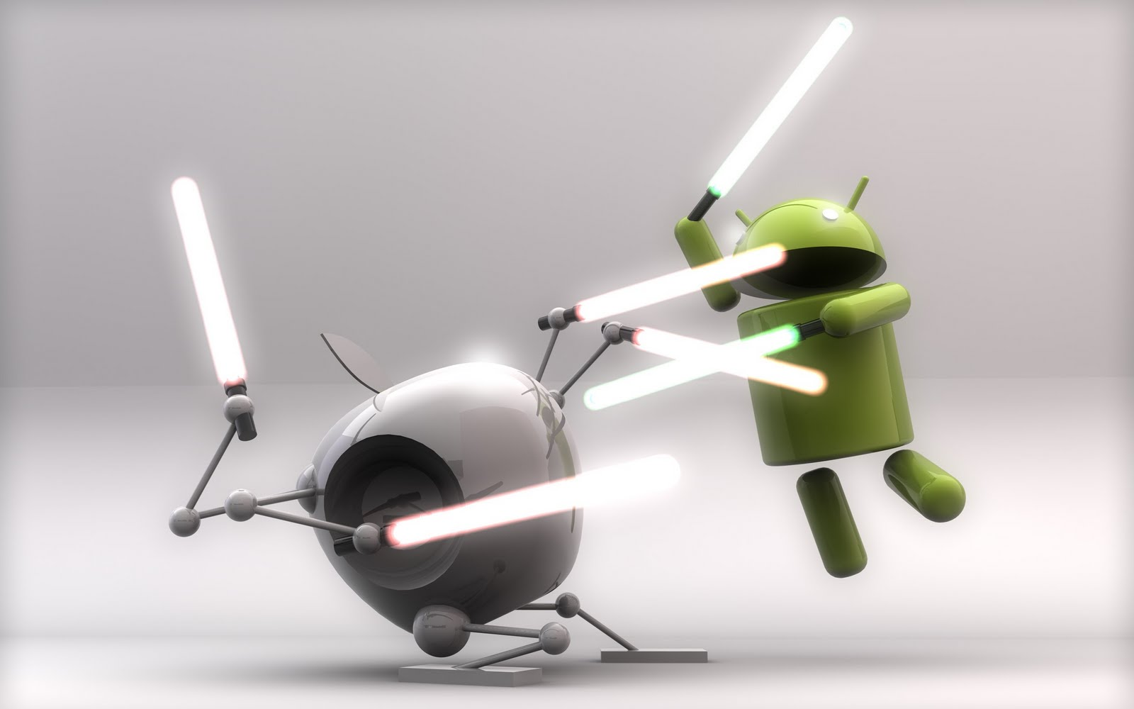 Android VS iOS Saber laser