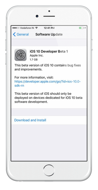 iOS-10-beta-1-OTA-update